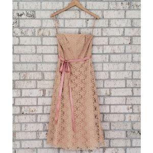 Bari Jay Tea Length Lace Dress - Size 10